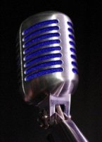 Blue and Silver Microphone