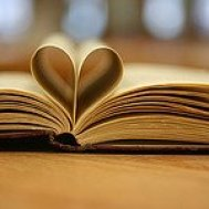 Book with Pages in a Heart