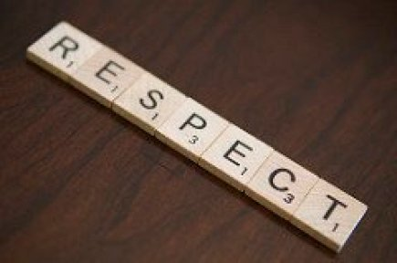 Respect Spelled Out with Scrabble Tiles