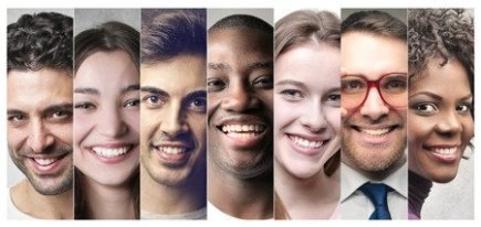 Diverse Set of Smiling People