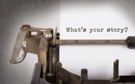 Vintage Typewriter Typing Whats Your Story