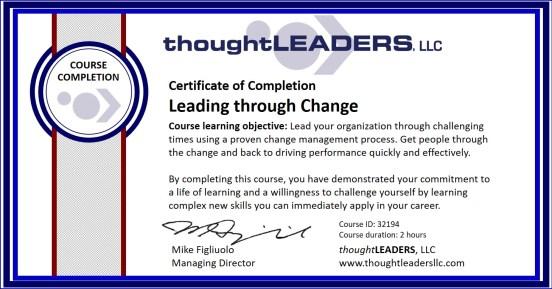 TITAN eLearning Certificate - Leading through Change