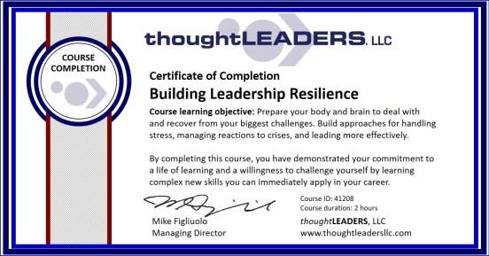 TITAN eLearning Certificate - Building Leadership Resilience