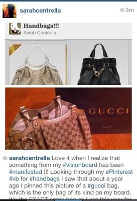 Sarah Centrella manifest Gucci Bag #HBRMethod