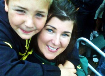 Sarah Centrella Oregon Ducks game with Kanne