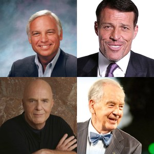 Jack Canfield, Tony Robbins, Zig Zigler, Wayne Dryer