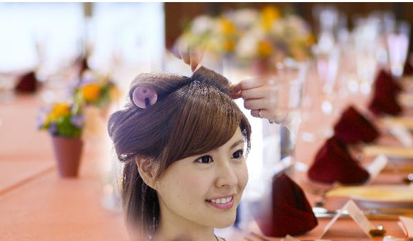 披露宴と髪型