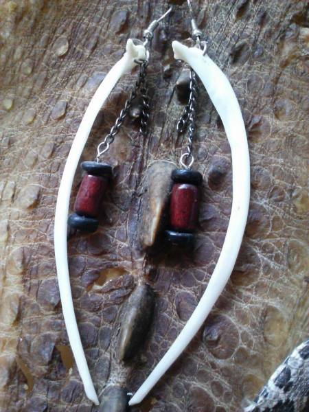 Modern-Earth-Creations.Carp-Rib-Bone-Earrings