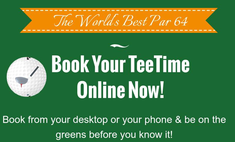 Book a Tee Time CTA Golf