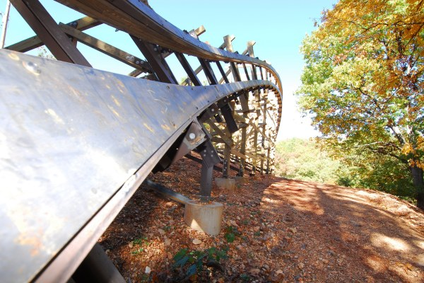Outlaw Run at Silver Dollar City in the fall
