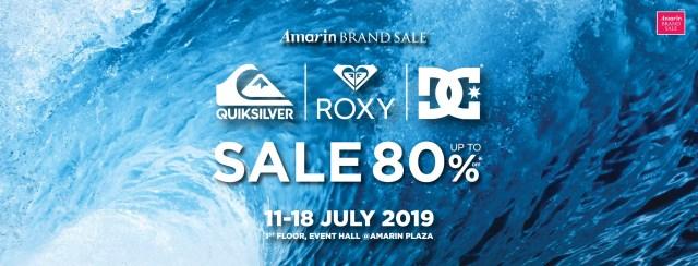 Amarin Brand Sale: Quiksilver Roxy & DC ลดสูงสุด 80% 11 - 18 กรกฎาคม 2562
