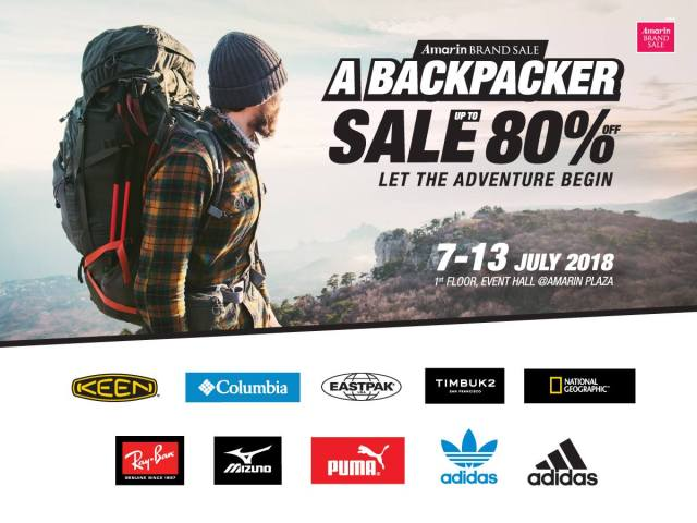 "Amarin Brand Sale ""A Backpacker SALE"" (7 - 13 ก.ค. 2561)"