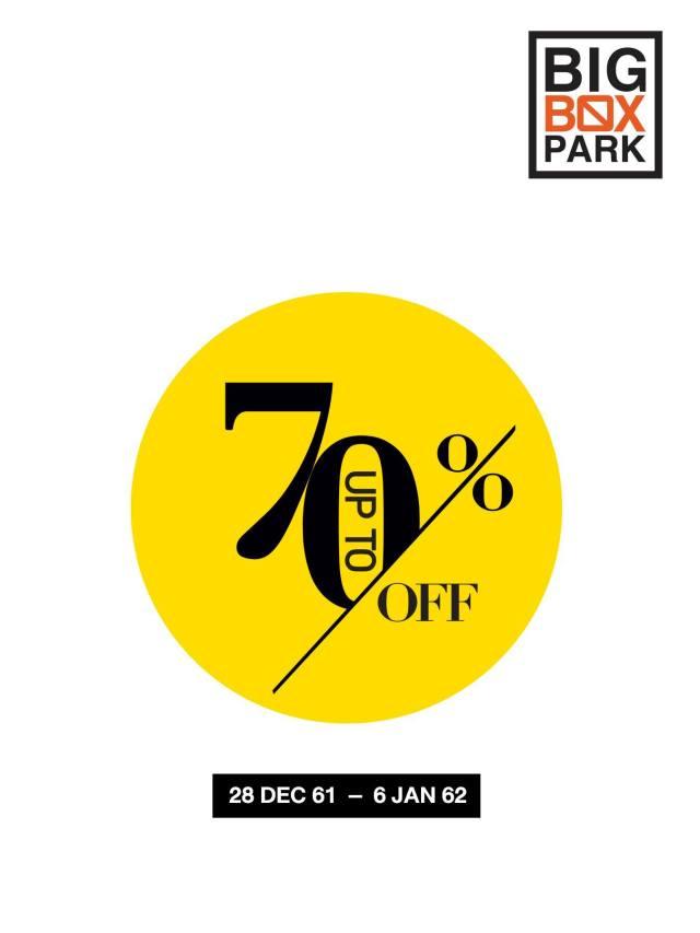, BIG BOX PARK สินค้าแบรนด์ดัง ลดสูงสุด 70% ที่เซ็นทรัล พระราม 9 (28 ธ.ค.- 6 ม.ค. 2562)