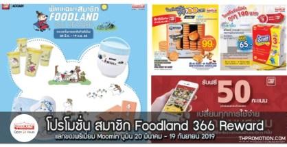 สมาชิก Foodland 366 Reward สะสมคะแนนแลกของพรีเมี่ยม Moomin สิทธิ์แลกซื้อ วันนี้