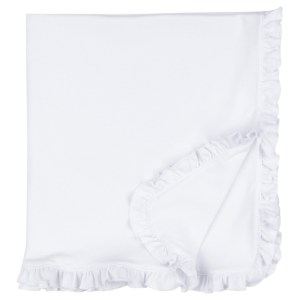BB white ruffle blanket