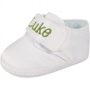 BD satin deck shoe monogrammed