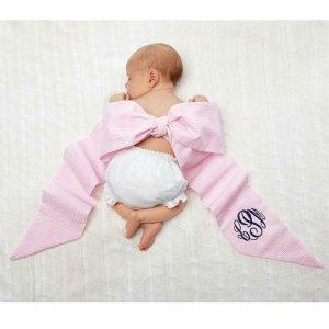 MP seer pink sash baby