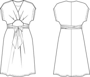 Akinori Kimono dress Style sketch