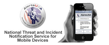 AlertsUSA provides instannt mobile notfication of SHTF incidents and developments.