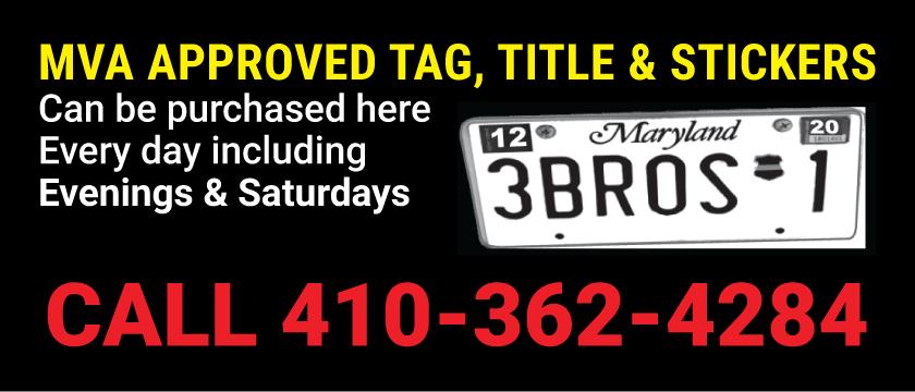 MVA Tag & Title - Baltimore