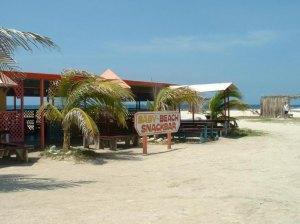Vendor huts at Baby Beach Aruba