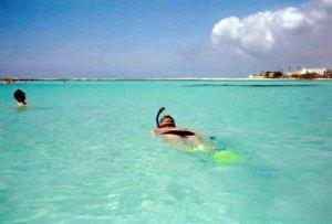 Snorkeling at Baby Beach Aruba