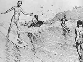 Early surfers Hawaii