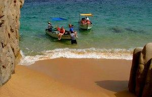 People arriving at Playa del Amor, Cabo San Lucas