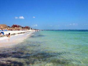 The beaches in Cancun