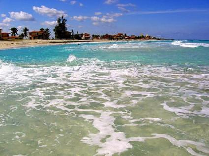 Ocean surf at Varadero Beach, Cuba