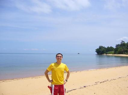 Wally on the Pantai Pebble Beach.
