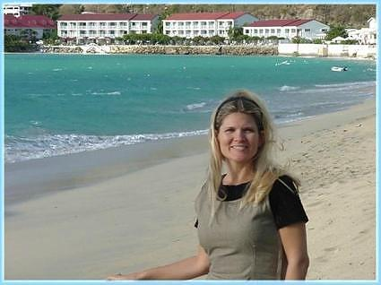 doreen with grand case hotel in background