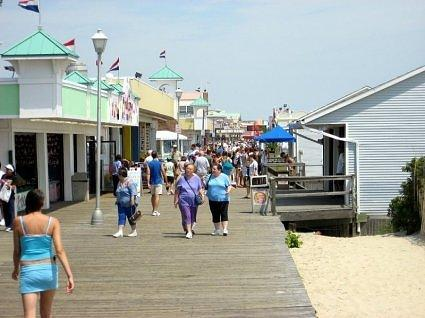 Boardwalk with shops - Point Pleasant