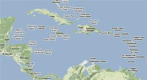 Map of Central America and Caribbean