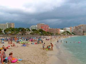 Magaluf or Magalluf Beach in Mallorca, Spain