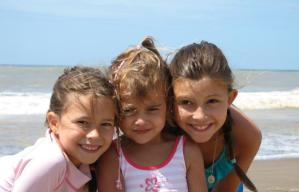 Kids at Carilo Beach, Argentina