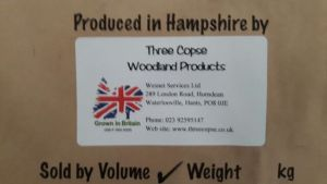 our threecopse label including our grown in britian logo