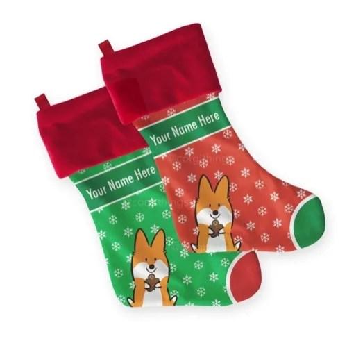 Corgi Christmas stocking