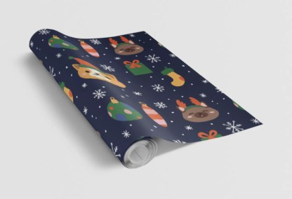 Cheru Illustration Corgi Gift Wrap