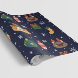 Cheru Illustration Corgi Gift Wrap