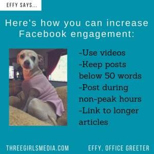 Effy Says…Increase Facebook Engagement!