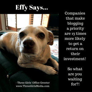 Effy Asks… Is Blogging A Priority for Your Business?