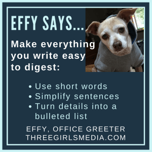 Effy Says… Keep it Short and Sweet