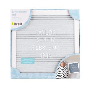 Pearhead Letterboard Set - Grey