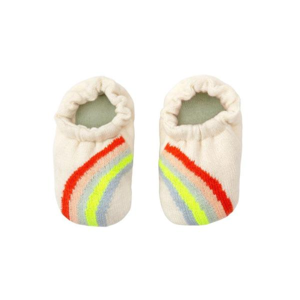 Meri Meri Rainbow Baby Booties