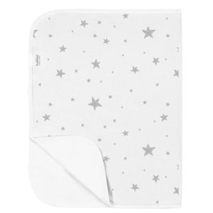 Kushies Waterproof Flat Change Pad - Grey Scribble Stars