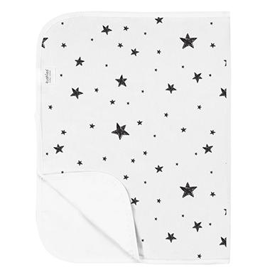 Kushies Waterproof Flat Change Pad - Scribble Stars BW
