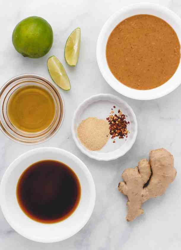 ingredients for peanut dipping sauce