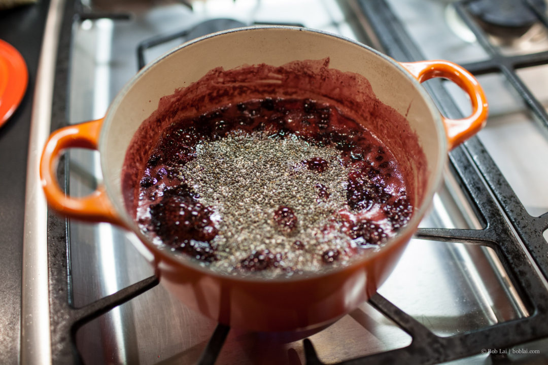 Chia seeds in jam