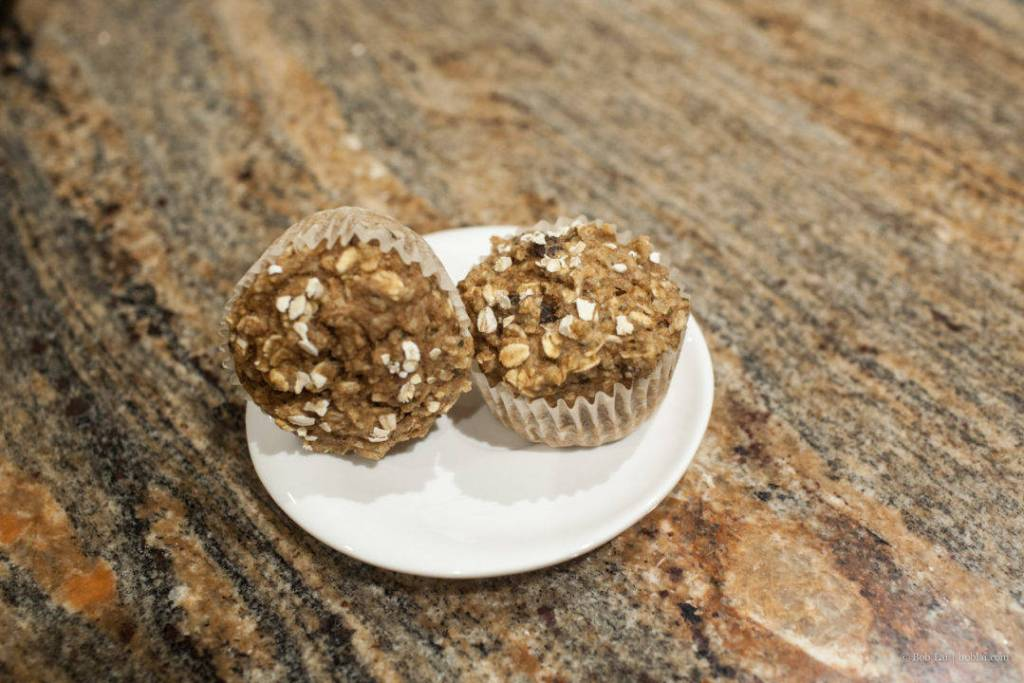 Muffins with Oats and Apple